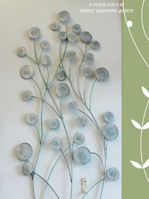 ╭☆朵琍诗精品☆╮【居家装饰】仿旧风格白锻铁树叶/树枝造型壁饰