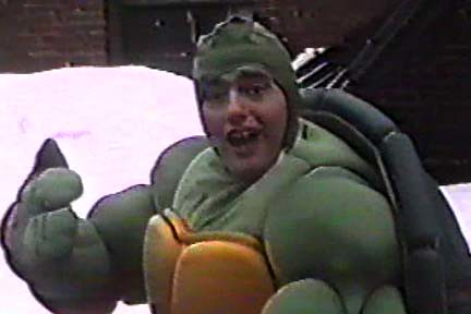 Steve Lavigne in TMNT Costume { You won't like him when he's angry } (( 1988 ))