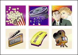 free Movie Magic slot game symbols