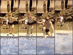 1... 2... 3... Splash! (179:365) (lachicadelfagot) Tags: boy summer water agua child piscina swimmingpool blond verano niño rubio