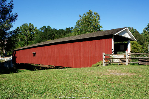 Jackson Sawmill Covered Bridge (Exterior Long View) hdr 07