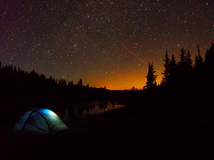 Camping in Space (velvia8) Tags: camping trees sky lake nature water stars colorado peace natural hiking space clarity tranquility calm adventure galaxy backpacking planets wilderness elevation pure atmophere