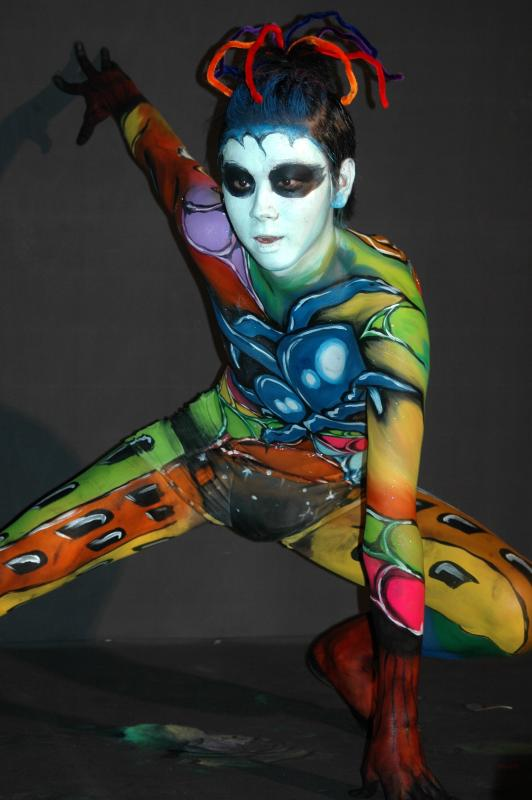 Korean Body Painting Model