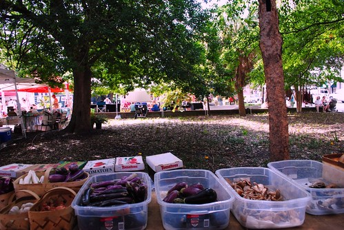 farmers' market in marion square.