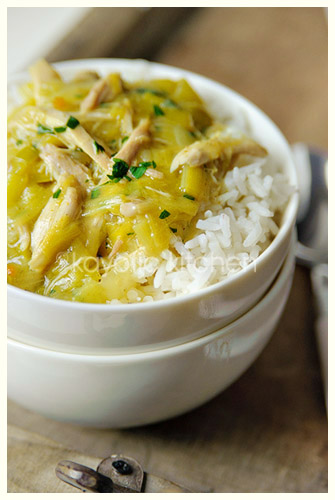Curried Chicken with Leeks