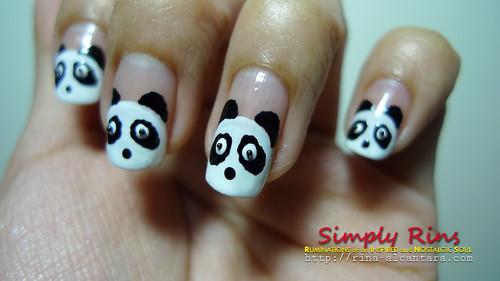 Nail Art Panda 04