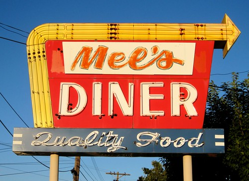 Mel's Diner Vintage Sign, Quality Food