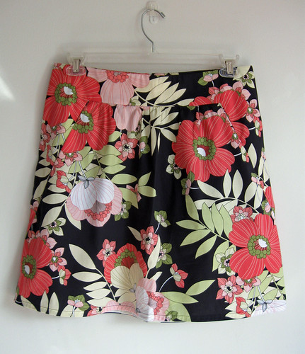 floral skirt front on hanger
