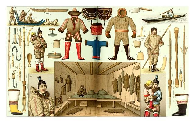 017-Esquimales -Geschichte des kostüms in chronologischer entwicklung 1888- A. Racinet