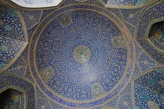 Under the Dome (A.Davey) Tags: tile iran tiles esfahan islamicdome islamictile islamictilework islamictiling masjedeshahmosque