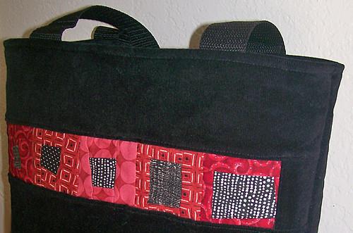 wonky squares tote bag