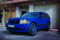 Jeep Grand Cherokee  | Blue Matt (Tareq Abuhajjaj | Photography & Design) Tags: blue usa moon black green grass matt nikon jeep gear grand saudi arabia 24 cherokee rims ksa srt8 tareq 24120 magnaflow  d700     foilacar  tareqdesign abuhajjaj