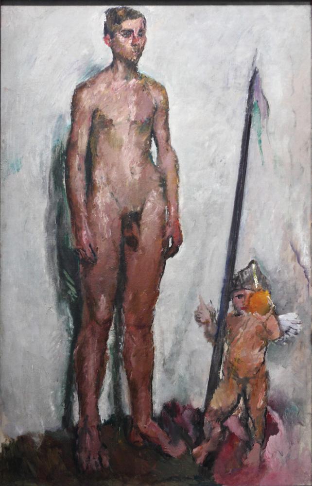 Anton Kolig, Jüngling und Amor [Youth with Cupid], 1911