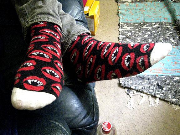vampire sushi socks