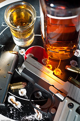 Unusual Combination (Photoshoparama - Dan) Tags: danger dangerous whiskey pistol booze whisky guns mixing bullets ammo jimbeam liquour targets sb800 strobist wirelesstrigger macromonday johnsongraphics photoshoparama danielejohnson cactusv4 crossroadonecom dej0287 sigsauerhandgunp238380acp