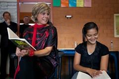 Verassingsbezoek Prinses Laurentien (Sebastiaan ter Burg) Tags: kinderen record luxor stichting lezen schrijven prinses laurentien simonvandergeest