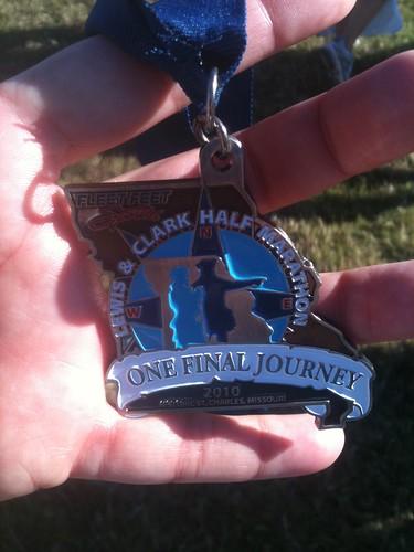 13.1 miles, 1:58.46 =)