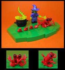 The Wicked Western Witch (Karf Oohlu) Tags: lego moc minifig witch frog cauldron