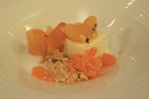 sheep's milk yoghurt, mandarin and carrot granita