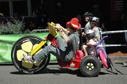 Adult's Big Wheel (venetiakelley) Tags: bike fun toy adult