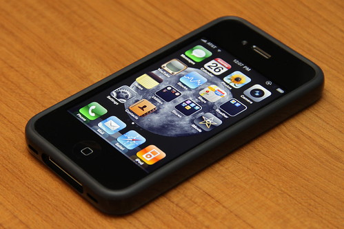 iPhone 4 32GB Black + Bumper Black (Front)