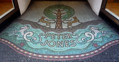 Mosaic Entrance: Peter Jones (Curry15) Tags: westminster starfish entrance doorway artdeco swirls seahorses sw1 sloanesquare threshold kingsroad leopards peterjones cadogangardens mosaicfloor 193236