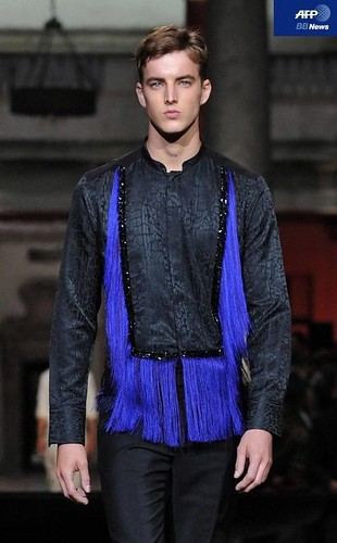 James Smith3137_SS11_Milan_Roberto Cavalli(AFP BB News)