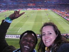 Mongezi and Telana - at Denmark vs Cameroon