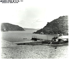 Broken Bay (State Archives NSW) Tags: blackandwhite beach jetty archives newsouthwales palmbeach foreshore barrenjoey hawkesburyriver brokenbay barranjoey momentsintime staterecordsnsw