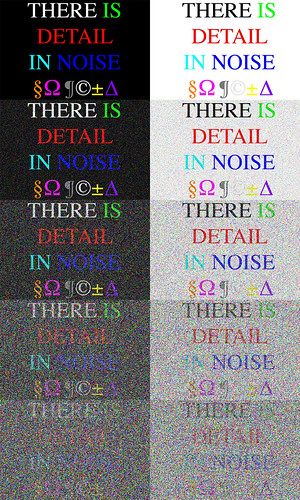 There is Detail in Noise 1
