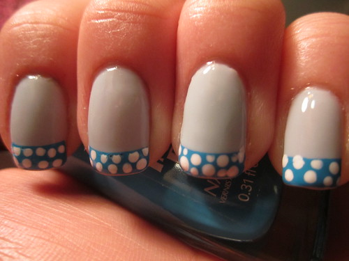 Blue and White Polka Dots