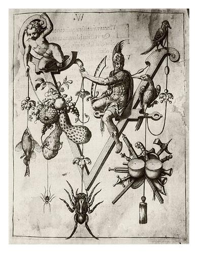 020-Letra V- Vercingetoric-Neiw Kunstliches Alphabet 1595- Johann Theodor de Bry