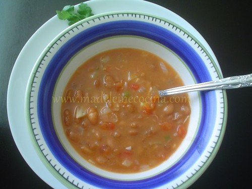 Chilaquil de frijol - cocina maya