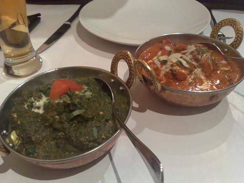 palak paneer & chicken mughal makhani