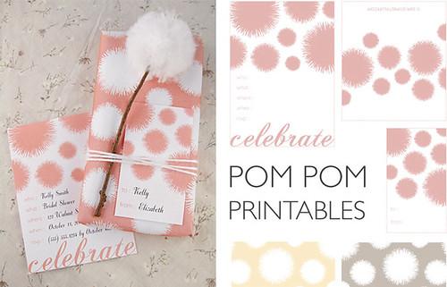 pom pom invitations