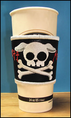 dog coffee skull embroidery urbanthreads
