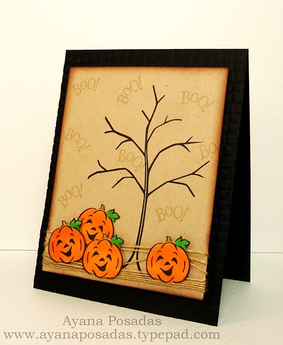Halloween Card- Bare Tree (2)