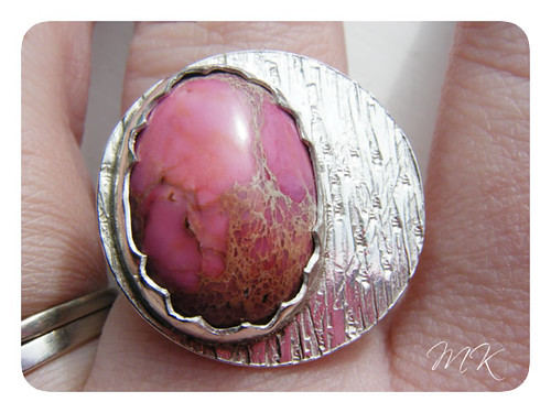 pink sea sediment jasper ring 5
