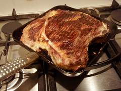 Fiorentina prepared on my favorite grill pan