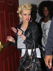 Christina Aguilera (ChristinaAguileraChina) Tags: ca losangeles unitedstates bionic christina stripes bighair candids aguilera christinaaguilera newsingle notmyselftonight