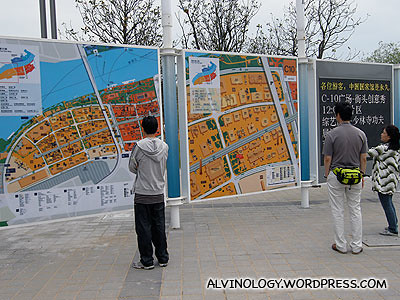 There are lots of giant maps like this for navigation