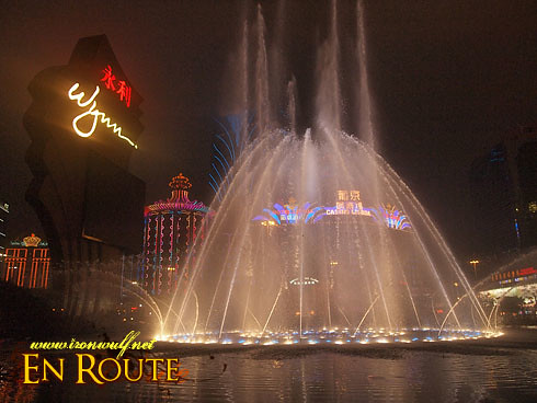 Macau Wynn Dancing Fountain