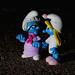 Nanny Smurf wakes Smurfette