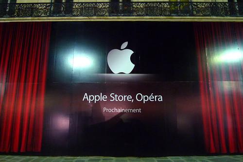 Façade futur Apple Store Opera - Juin 2010