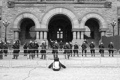 Police guard Legislature Building, Queens Park