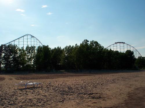 Cedar Point - Magnum XL 200 from Beach