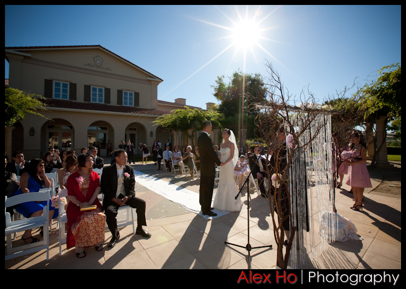 ruby hill pleasanton golf course wedding ceremony