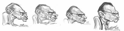 digital sketch studies of Larry King