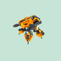 "Vestal ""Goldenrod"" V2 Assault Walker (Titolian) Tags: golden lego space assault walker rod vestal v2"