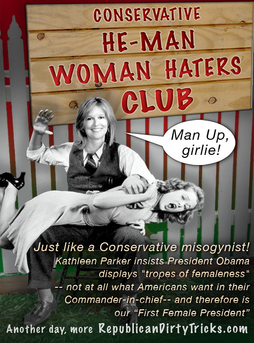 Kathleen Parker Insults Both Men & Women with Misogynist Critique of President Obama